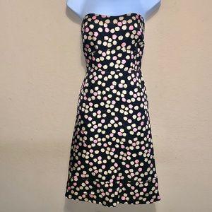 J. Crew silk strapless dress size 6